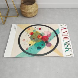 Kandinsky - Circles in a Circle (1923) - Abstract Art Classic - [With Details] Rug