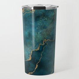 Golden Gemstone Glamour Mineral Travel Mug