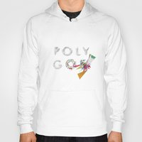 polygon Hoodies featuring LOW POLYGON by mountstar