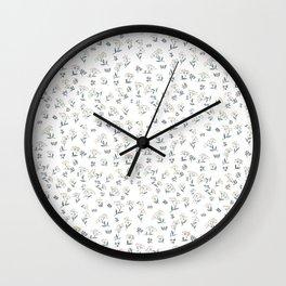 Vintage Wildflower Pattern Wall Clock