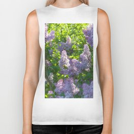 Summer lilac nature pattern Biker Tank