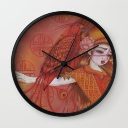 Huo: Vermillion Bird Wall Clock