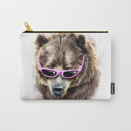 Cool shy bear Carry-All Pouch