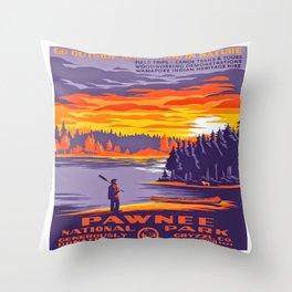 Pawnee National Park Throw Pillow