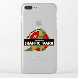 Jraffic Park Clear iPhone Case