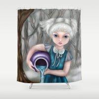 aquarius Shower Curtains featuring Aquarius by Paula Ellenberger