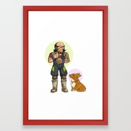 Jet and Ein Framed Art Print