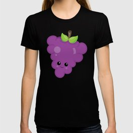 Kawaii Fruit Kawaii Grapes Cute Cartoon Fruit T-shirt