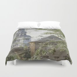 Mulln Monastery in Augustiner Braustubl (Salzburg) by Edward Theodore Compton Duvet Cover