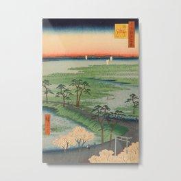 Spring Sumamura Hiroshige Vintage Ukiyo-e Japanese Art Metal Print
