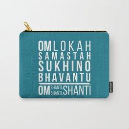 Lokah Samastah Mantra Yoga Blue Carry-All Pouch