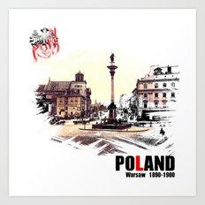 Poland, Warsaw 1890-1900 Art Print
