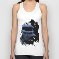 cookie monster Tank Tops featuring Monster Madness: Cookie Monster by SB Art Productions