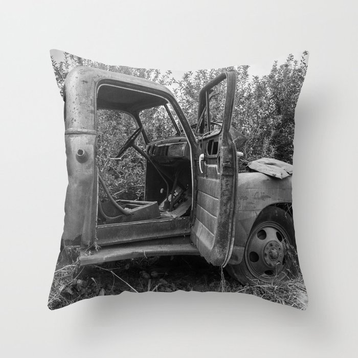 Old Chevy Truck II Throw Pillow