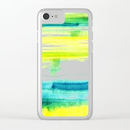 Swimming Upstream Clear iPhone Case