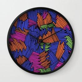 Happy Abstract Nr:05 Wall Clock