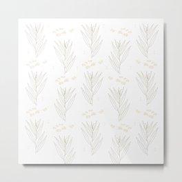 White Willow Metal Print