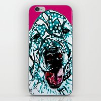 golden retriever iPhone & iPod Skins featuring Golden Retriever by Amy Reber