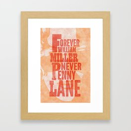 Never Penny Lane Framed Art Print