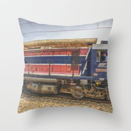 Train Adventure Throw Pillow