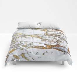 Gold Marble Comforters