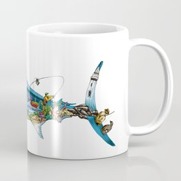 Colored Fisherman Marlin Coffee Mug