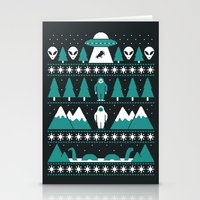 Stationery Cards featuring Paranormal Xmas by Teo Zirinis