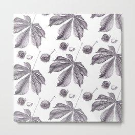 Floral pattern horse-chestnut Metal Print