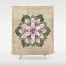 Ipomoea Triloba Sand Shower Curtain