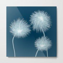 Stylized dandelions Metal Print