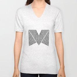 M zigzag Unisex V-Neck
