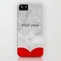find your half (1 of 2 parts)  iPhone (5, 5s) Slim Case