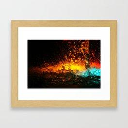 WATER FOUNTAIN LIHT REFLECTION Framed Art Print