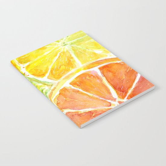 Fruit Watercolor Citrus Notebook