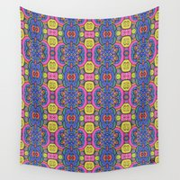 batik Wall Tapestries featuring Peace Batik by lisa weedn