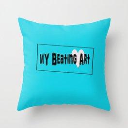 My Beating Art Throw Pillow