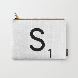 Letter S - Custom Scrabble Letter Tile Art - Scrabble S Initial Carry-All Pouch