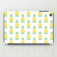 pineapple iPad Cases featuring Pineapple by Jacqueline Maldonado