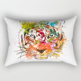creative color ink splash tiger avatar Rectangular Pillow