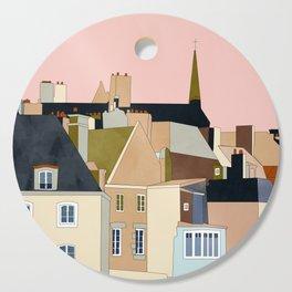 france brittany houses shape art Cutting Board