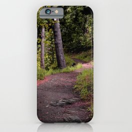 Peaceful Forest Trail iPhone Case