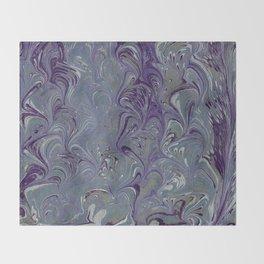 Purple, Blue, & Green Marbled Throw Blanket