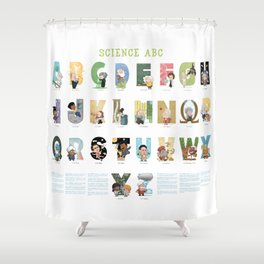 Science ABC Shower Curtain