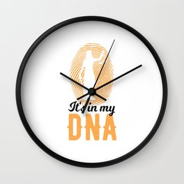 Lawyer Law Student Judge Justice DNA Wall Clock