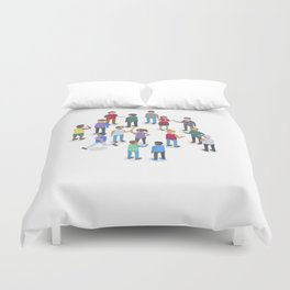 isometric people Duvet Cover