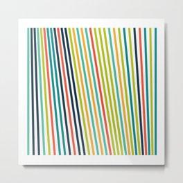 #623 lines Metal Print