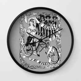 My Bicycle or My Death Wall Clock