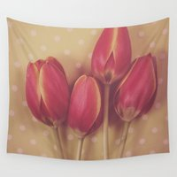 antique Wall Tapestries featuring Antique Tulips by Jessica Torres Photography