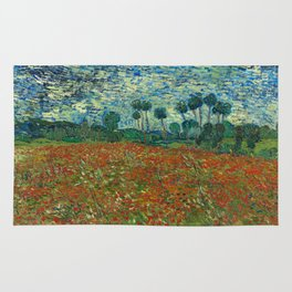 Field with Poppies Rug