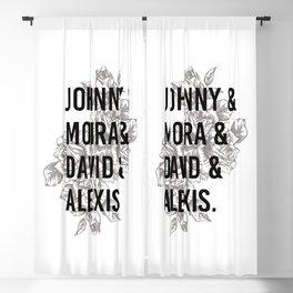 Schitts Creek. Johnny Moira David Alexis Rose apothecary. Rosebud motel gift Blackout Curtain